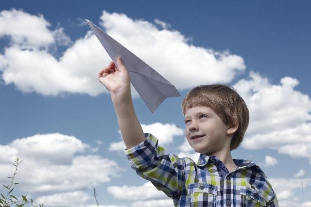 飛行機子供